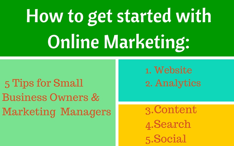 How to get started with online marketing!