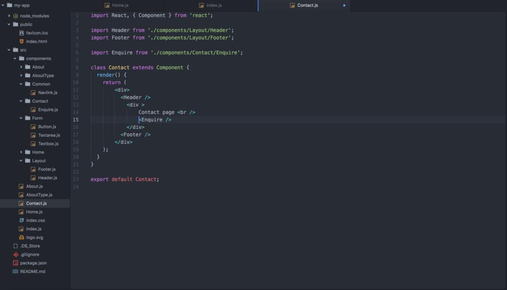 React js tutorial - contact-js-react-app