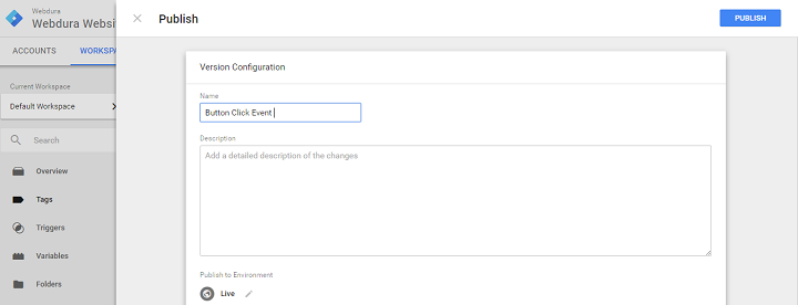 google tag manager auto event tracking tag publish