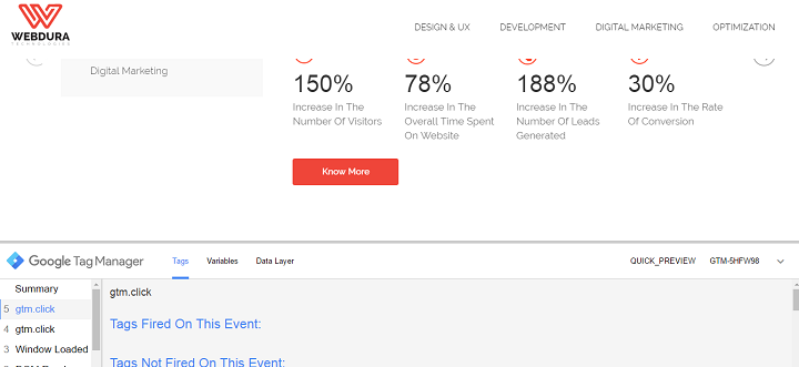 google tag manager event tracking tags fired on event
