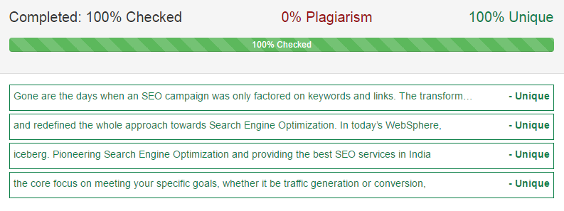 content uniqueness and quality - on page seo checklist 2017