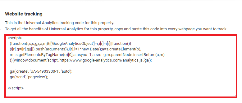 finding google analytics property tracking id and code-google analytics tracking code found