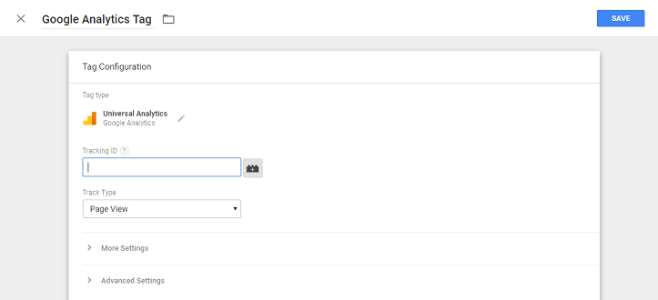 configuring google tag manager analytics tag