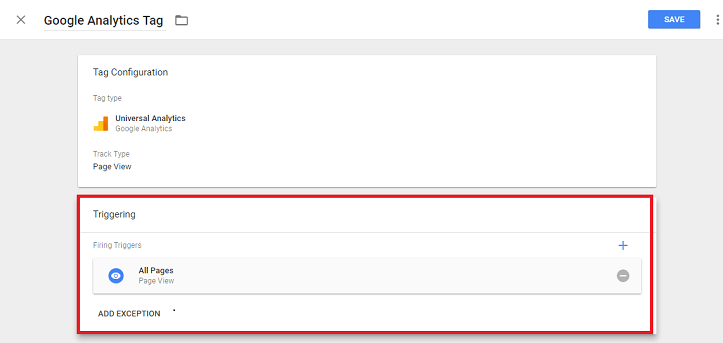configuring google tag manager analytics trigger