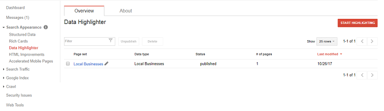 google-search-console-data-highlighter-search-appearance-feature