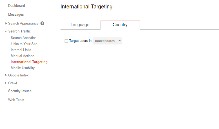 Google Search Console Tutorial - International Targeting