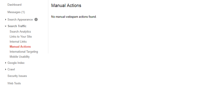 Google Search Console Tutorial - Manual Action Report