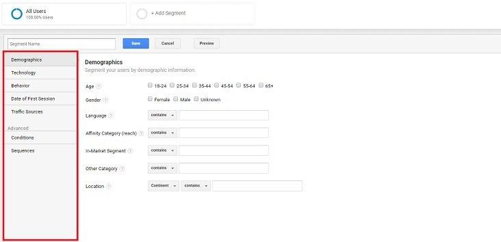 how to delete a segment form google